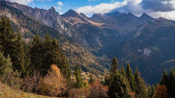 Haute-Savoie, Montagne à l'automne, Manigod