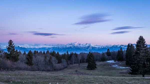 Haute-Savoie, Montagne, Mont Blanc depuis Mont Salève