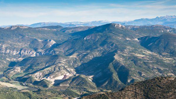 Provence, Montagne, Vue depuis montagne de Lure