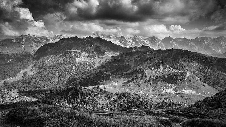 France, Haute-Savoie, Vue depuis le Grand-Bornand