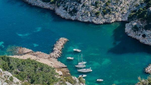 Provence, Marseille, Vue sur les Calanques depuis Luminy